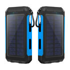 Waterproof Solar Panel Mobile Power Bank 500000mAh 2USB Battery Charge for Phone