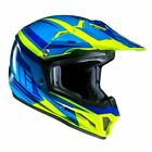 HJC CL-XY II Bator Blue Fluo Youth Off Road Motocross Motorcycle Helmet New