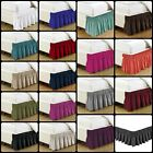 Bed Dust Ruffle Skirt Queen King Twin Full Size Wrap Around Elastic 18 Colors image