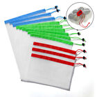 15 Pack Reusable Produce Bags Black ROPE Mesh Vegetable Fruit Toys Storage Pouch <br/> ✅US SELLER✅High Quality✅ Best offer✅ Free postage