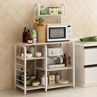 5-Tier Microwave Oven Cart Bakers Rack Kitchen Storage Shelves Stand Steel photo