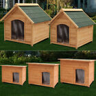 Insulated Extra/Large Wooden Dog Kennel House Home w/ Removable Floor Easy Clean