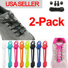 2-pack No Tie Shoelaces Elastic Lock Shoe Laces Running Jogging Canvas Sneakers