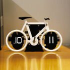 Bicycle model Design Retro Auto Flip Clock for Table Desk Wall Decoration Gift