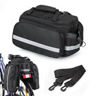 Bicycle Bike Cycle Rear Rack Bag Removable Carry Carrier Saddle Holder Pannier