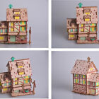 3D Wooden Jigsaw Puzzle Model for Kids DIY Coffee House Assembled Toys Brain Toy