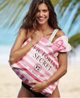 Victoria's Secret Large Canvas Weekender Travel Tote  Pouch Swim Beach bag NWT
