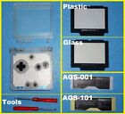 CLEAR WHITE GBA SP Shell Nintendo Game Boy Advance SP Housing Glass Plastic NEW
