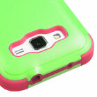 For Samsung Galaxy Prevail LTE Hybrid TUFF Case Silicone Cover +Built-In Stand