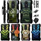 For LG SOLO LTE / K40 / Harmony 3 Holster Case Armor Kickstand Cover LuxGuard A1