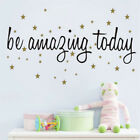 Be Amazing Today Star Wall Sticker Vinyl Decal Home Living Room Art Mural Decor
