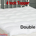 """4"""" Deep Microfibre Mattress Bed Topper & Waterproof Protector Luxury Comfy Soft"""