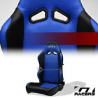 1PC SP Black/Blue PVC Leather Stitch Reclinable Racing Seat For Cadillac Dodge $117.0 USD on eBay