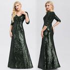 Ever-pretty Women Half-sleeve Sequins Evening Prom Gowns Cocktail Party Dresses