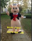 Pig Mascot Costume Cosplay Party Game Dress Unisex Advertising Halloween Adult @