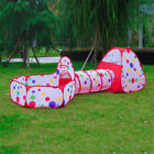 3Pcs/Set Foldable Baby Pool-Tube-Teepee Toy Tents 3 Colors Pop-Up Play Tent Toy