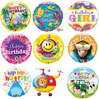 Qualatex Happy Birthday Foil Party Balloons - General Child Helium