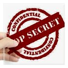 Home Decoration Accesories CafePress Top Secret Red Rectangle Sticker Square Sticker  (696605343)