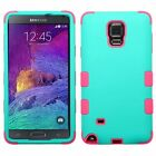 Hybrid TUFF Soft Silicone and Tough Hard Case for Samsung Galaxy Note 4