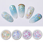 Colorful Nail Glitter Sequins Holographic Mixed Sizes 3D Nail Art Decorations