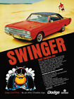 "1969 Dodge Dart Swinger 340 Large Format Ad ""Swinger"" $46.95 USD on eBay"