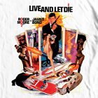 James Bond T-shirt 007 Live Let Die retro vintage 70's film graphic cotton tee  image