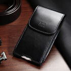 Black Business Executive Cell Phone Clip Pouch Holder Belt Loop Vertical
