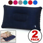 Внешний вид - 2-PACK Inflatable Lightweight Airplane Pillow Cushion Travel Hiking Camping