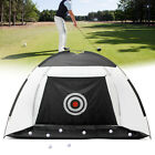 Practice Golf Net Hitting Cage Training Aid Mat Driver Irons +Golf Mat +Free