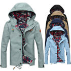 US STOCK Mens Hoodie Coat Tops Lined Hooded Military Jacket Outwear Blazer Parka