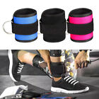 Padded Ankle Straps for Cable Machines Strength Fitness Leg & Glute With D Ring