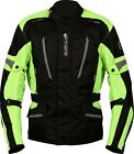 Buffalo Cyclone Mens Black / Neon Waterproof Textile Motorcycle Jacket NEW
