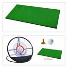 Chipping Pitching Cages Mats Practice Golf Training Aid Metal Net Indoor Outdoor