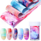 Ink Marble Nail Foils Paper Colorful Nail Art Transfer Stickers Decals Tips DIY