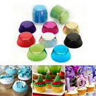 US 100Pcs Foil Metallic Paper Cupcake Cases Liners Muffin Baking Cake Cup 03