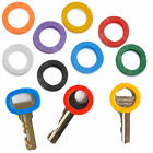 8-Pack Hollow Silicone Key Cap Covers Key Rings Colorful Color Identify Topper