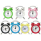 Portable Retro Cute Alarm Clock Twin Bell Round Number Table Desk Bed LED Clock