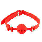 Ball Gag Breathable Hollow Adult Mouth Gag with Adjustable Neck Strap Custume US
