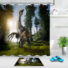 Therizinosaurus In A Forest Bath Shower Curtain Liner Waterproof Fabric & Hooks