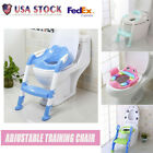 Kids Potty Training Seat Chair with Step Stool Ladder for Child Toddler Toilet image