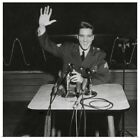 """""""Sgt. Elvis Presley answers question for the civilian and military press, Mar"""