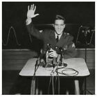 Poster Print Wall Art entitled Sgt. Elvis Presley answers question for the