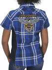 Harley-Davidson Womens 115th Anniversary Plaid Blue Button Shirt 99046-18VW $29.99 USD on eBay
