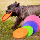 Soft Natural Rubber Dog Frisbee Dog Toy Play Toy Throwing Flying Disc Training