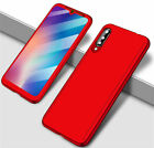For Xiaomi Mi 9T 9 SE A3 360° Full Protection Cover Phone Case + Tempered Glass