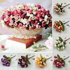 Small Silk Rose Bud Heads Artificial Fake Flower Wedding Party Home Decoration.