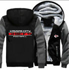 Kansas City Chiefs Football Hoodie Zip up Jacket Coat Winter Warm Black and Gray $35.99 USD on eBay