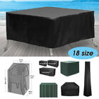 Waterproof Garden Bench Patio Furniture Set Cover For Outdoor Table Rattan Cube
