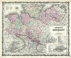 1861 Johnson Map of Northern Germany (Holstein and Hanover)