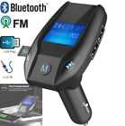 Wireless Bluetooth Car Kit MP3 Player FM Transmitter USB Charger AUX TF Card New
